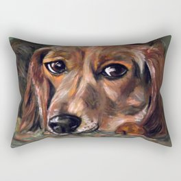 Dog Bagel Rectangular Pillow