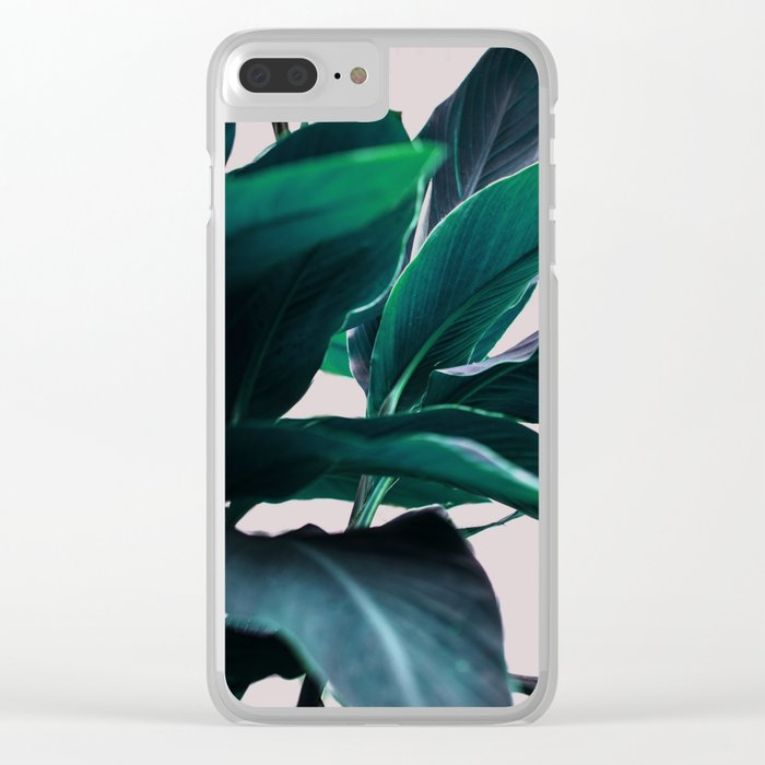 Leaves 4 Clear iPhone Case