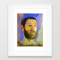 marc allante Framed Art Prints featuring Marc-Andre by Bryan Lanier
