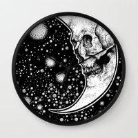 tarot Wall Clocks featuring Moon Tarot by Corinne Elyse
