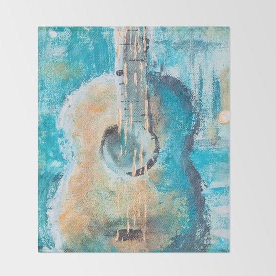 Teal Guitar by rachaelchatoor