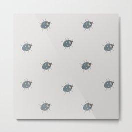 Ladybug (Aqua) Metal Print