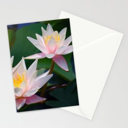 Water Lily neighbours and friends Stationery Cards