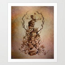 Cute Totem Art Print