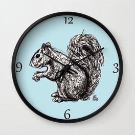 Blue Woodland Creatures - Squirrel Wall Clock