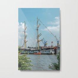 Bark Kruzenshtern in Hamburg Metal Print