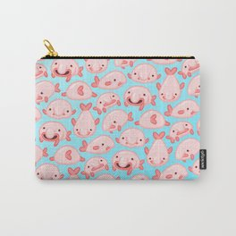 Blobfish Pattern Carry-All Pouch