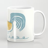 swedish Mugs featuring Swedish Hen by Chet and Dot
