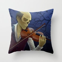 Erik playing the violin Throw Pillow