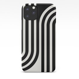 Minimal Line Curvature - Black and White III iPhone Case