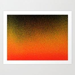 Sunset Dashes Art Print