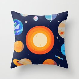Planets Series Poster Throw Pillow