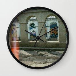Through the Pillars Wall Clock