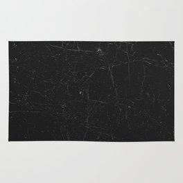 Black distressed marble texture Rug