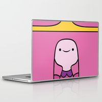 princess bubblegum Laptop & iPad Skins featuring Princess Bubblegum by OverClocked