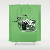 lincoln Shower Curtains featuring Lincoln Rex by The Cracked Dispensary
