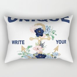 Be Unique write your own story Boat anchor Rectangular Pillow