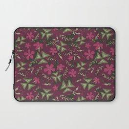 Shamrock Floral Layered Pattern / Purple Laptop Sleeve
