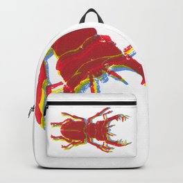 Stag Beetle Tricolore lino cut Backpack