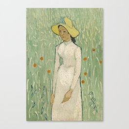 Girl in White, 1890 by Vincent Van Gogh Canvas Print