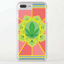 holy cannabis Clear iPhone Case