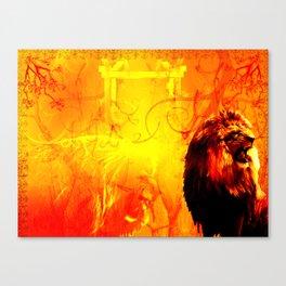 The Lion That Roars Canvas Print