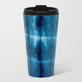 indigo shibori Travel Mug
