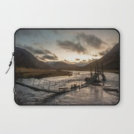 Broken Bridge Valley Dusk Laptop Sleeve