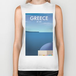 Greece By Air Vacation poster. Biker Tank