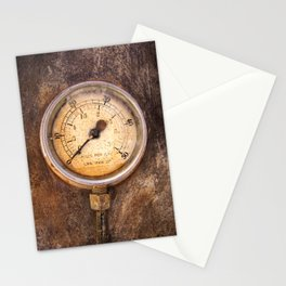 pressure - vintage industrial meter Stationery Cards