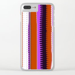 Rust and Purple Indian Blanket Design Clear iPhone Case