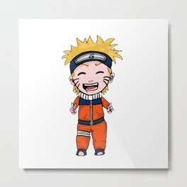 Naruto Uzumaki Laugh Metal Print