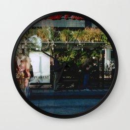 Greener Busses - overlapper Wall Clock