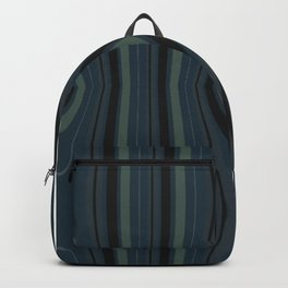 Green and Black Wood Grain Backpack