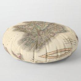 Map of Ireland 1799 Floor Pillow