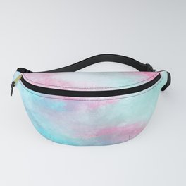 Artistic pastel girly pink teal trendy watercolor Fanny Pack