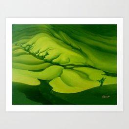 Green, Green ... Art Print