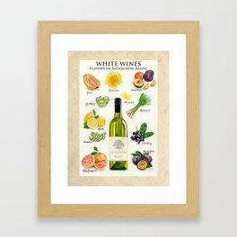 WHITE WINES - Flavors in Sauvignon Blanc Framed Art Print