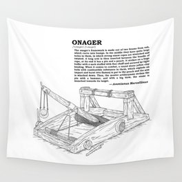 Onager Sketch [Black] Wall Tapestry