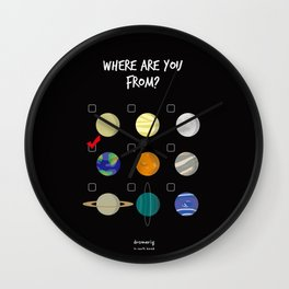 WHERE ARE YOU FROM? Wall Clock