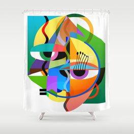 Picasso's Child Shower Curtain