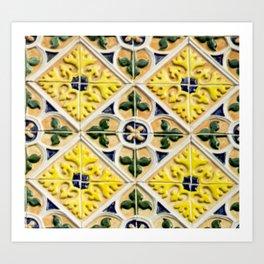 Portuguese azulejos Art Print