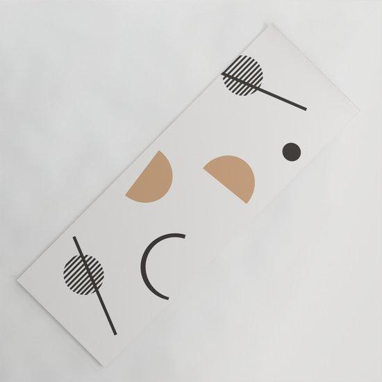 Chara - minimalist art print, abstract art, earth tones, neutral art print, geometric art print, by oliviastjames
