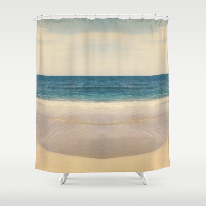 Vintage Beach Photographic Pattern 1 Shower Curtain By 3redthreads