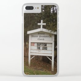 Baptism + the Lord Clear iPhone Case