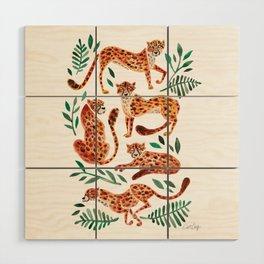 Cheetah Collection – Orange & Green Palette Wood Wall Art