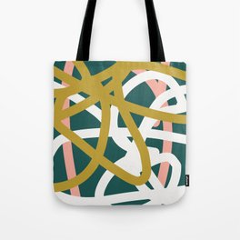 Abstract Lines 02B Tote Bag