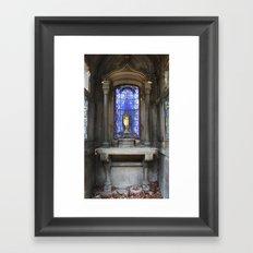 Blue Mausoleum Framed Art Print