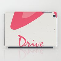 movie poster iPad Cases featuring Drive - Movie Poster by ahutchabove