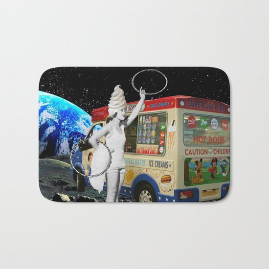 Miss Whippy Hooping in Space Bath Mat